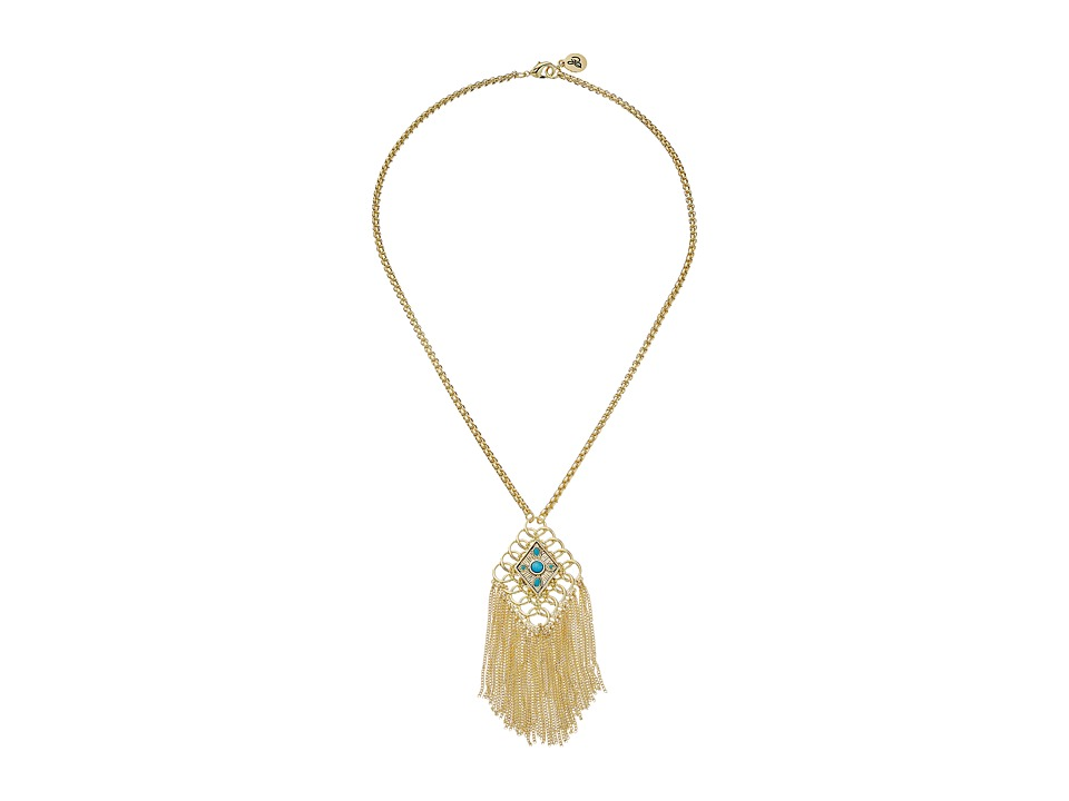 Sam Edelman - Chainmail Fringe Pendant Necklace 18 (Multi) Necklace