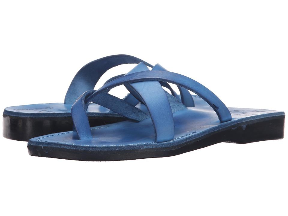 Jerusalem Sandals - Abigail - Womens (Blue) Women's Wedge Shoes