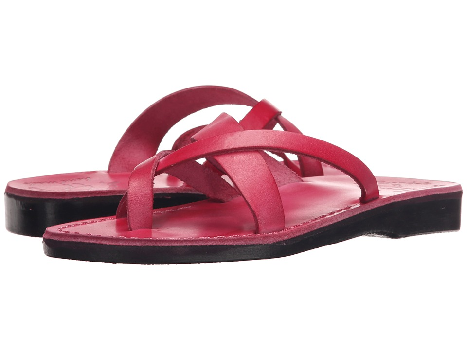 Jerusalem Sandals - Abigail - Womens (Pink) Women's Wedge Shoes