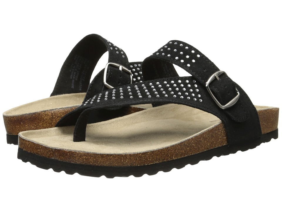 White Mountain - Coaster (Black Suede) Women's Shoes