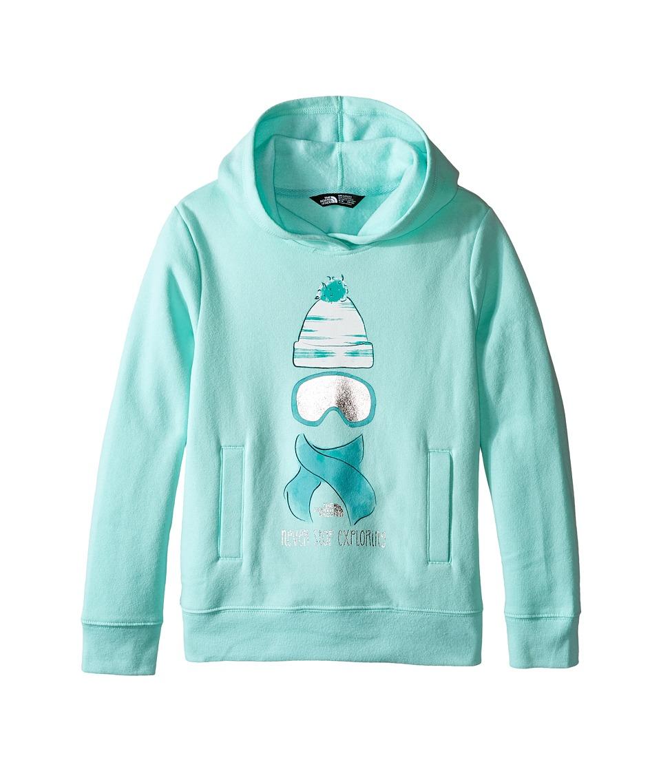 The North Face Kids - Logowear Pullover Hoodie (Little Kids/Big Kids) (Ice Green) Girl's Sweatshirt