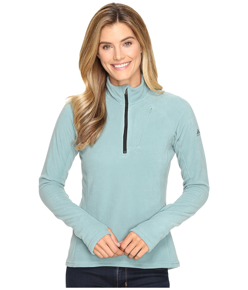 adidas Outdoor - Reachout 1/2 Zip (Vapour Steel) Women's Long Sleeve Pullover