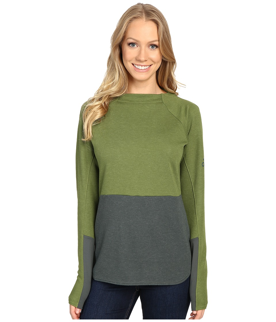 adidas Outdoor - Climb the City Sweater (Craft Green/Utility Ivy) Women's Sweater