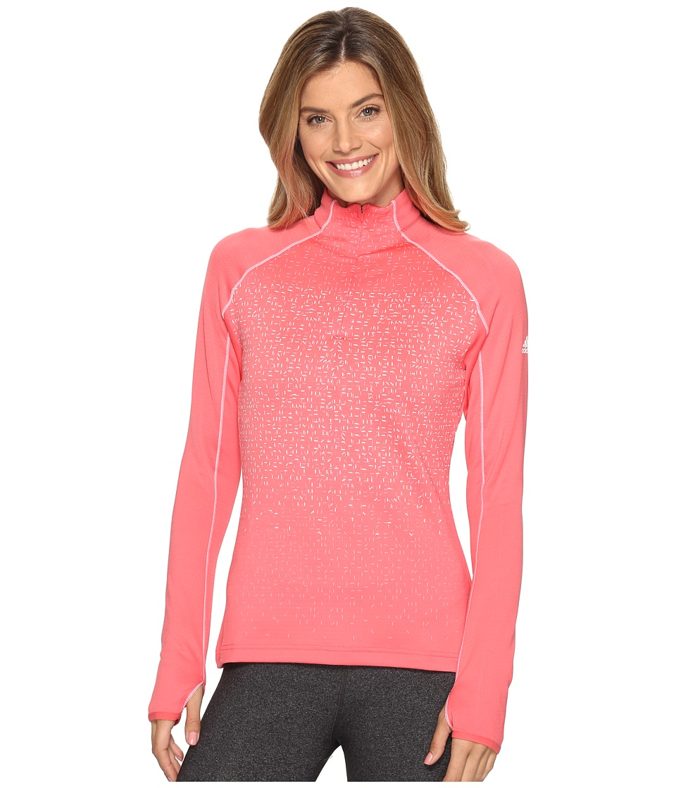 adidas Outdoor - 1/2 Zip Long Sleeve Shirt (Super Blush) Women's Long Sleeve Pullover