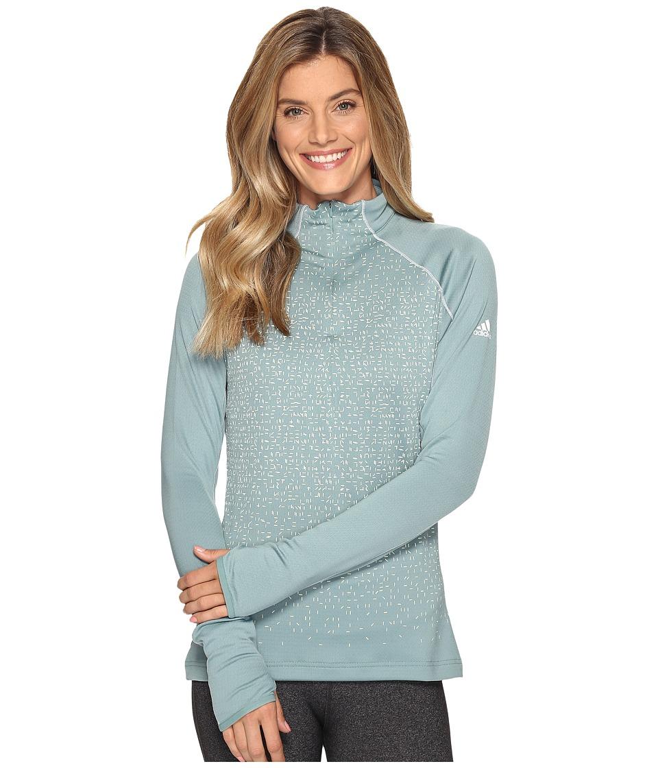 adidas Outdoor - 1/2 Zip Long Sleeve Shirt (Vapour Steel) Women's Long Sleeve Pullover