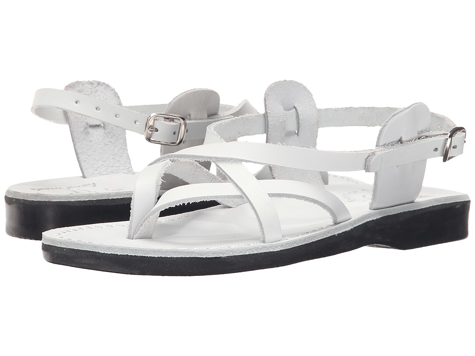 Jerusalem Sandals - Tamar Buckle - Womens (White) Women's Shoes