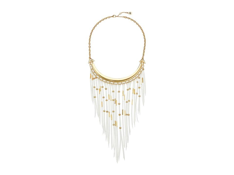 Sam Edelman - Fringe Frontal Necklace 16 (White) Necklace