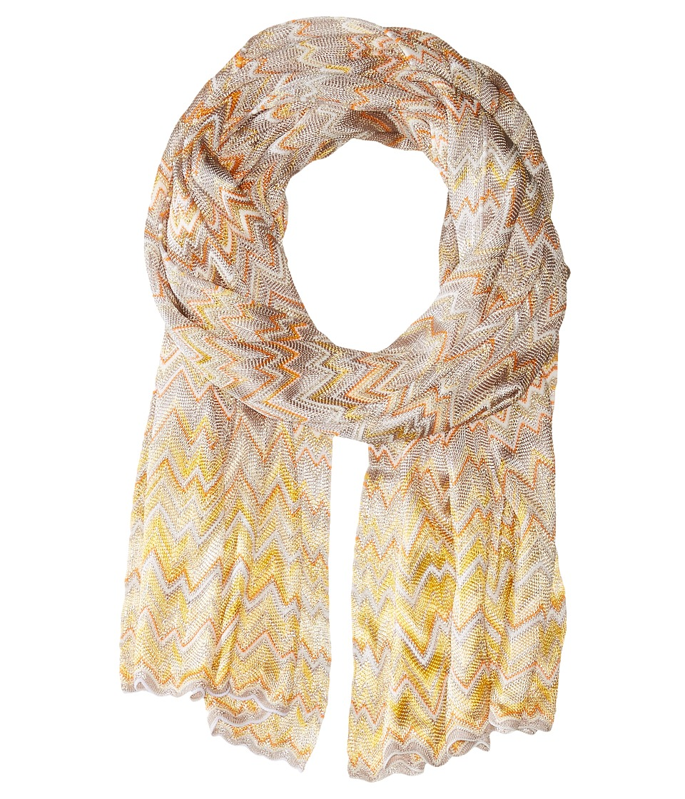 Missoni - SC36VID5379 (Grey/Orange) Scarves