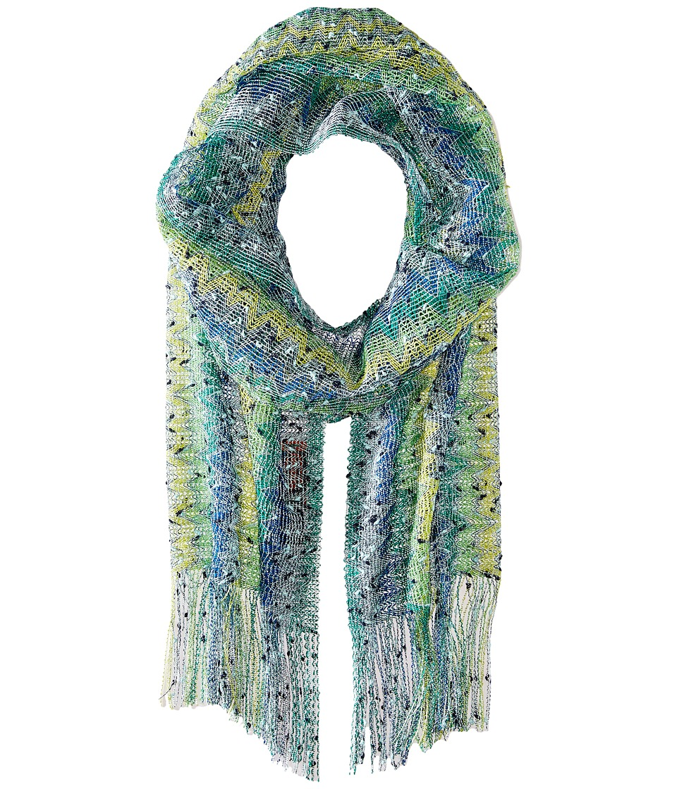 Missoni - SC13VMD5399 (Green/Blue) Scarves