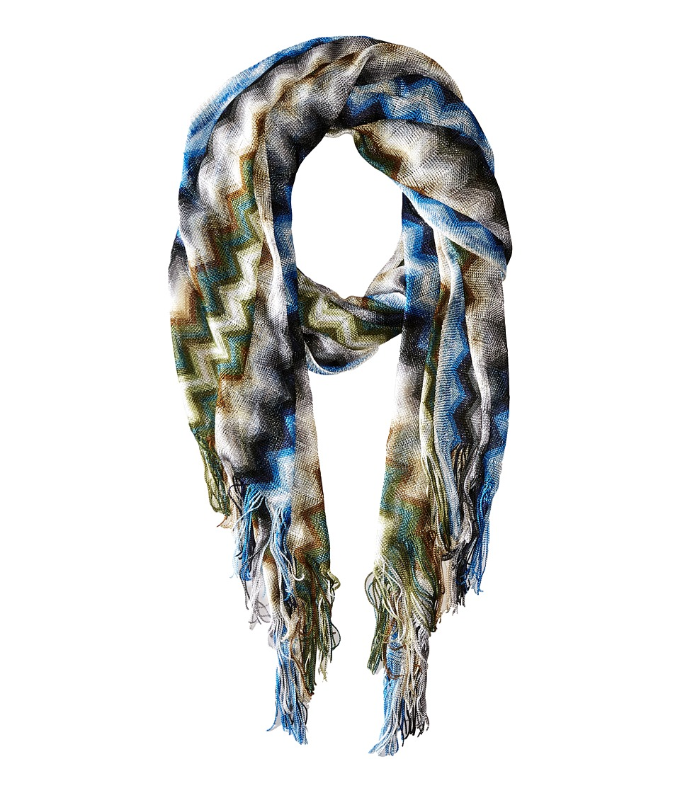 Missoni - SA57VID5477 (Blue/Green) Scarves