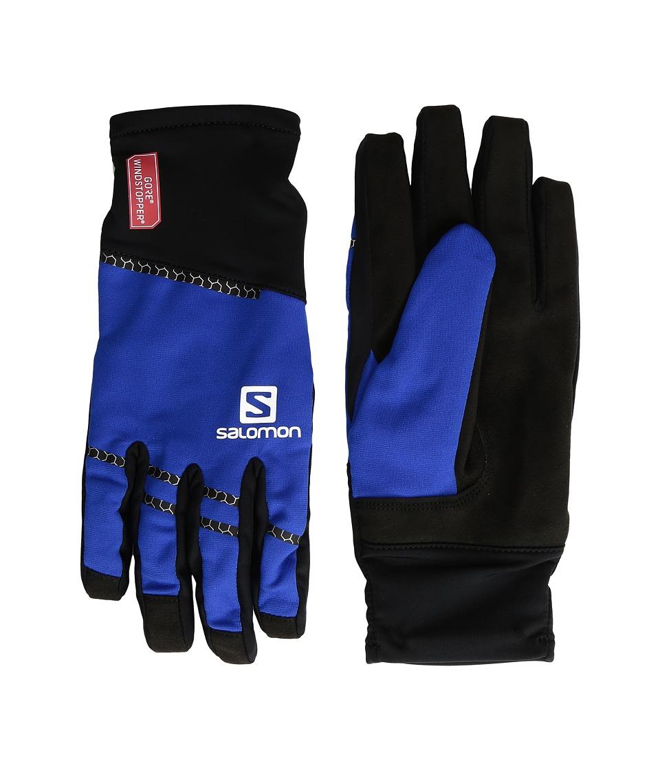 Salomon Race Windstopper Glove (Black/Blue Yonder) Gore-Tex Gloves