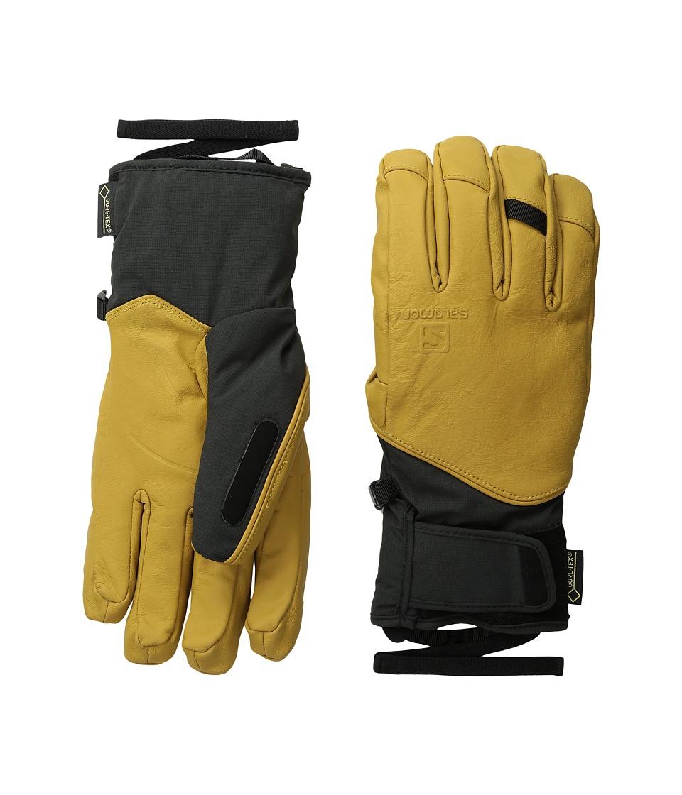 Salomon - QST GORE-TEX M (Black/Kangaroo) Ski Gloves