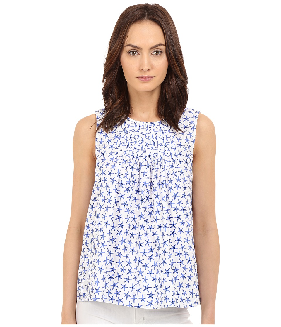 Kate Spade New York - Mini Starfish Poplin Top (Adventure Blue) Women's Clothing