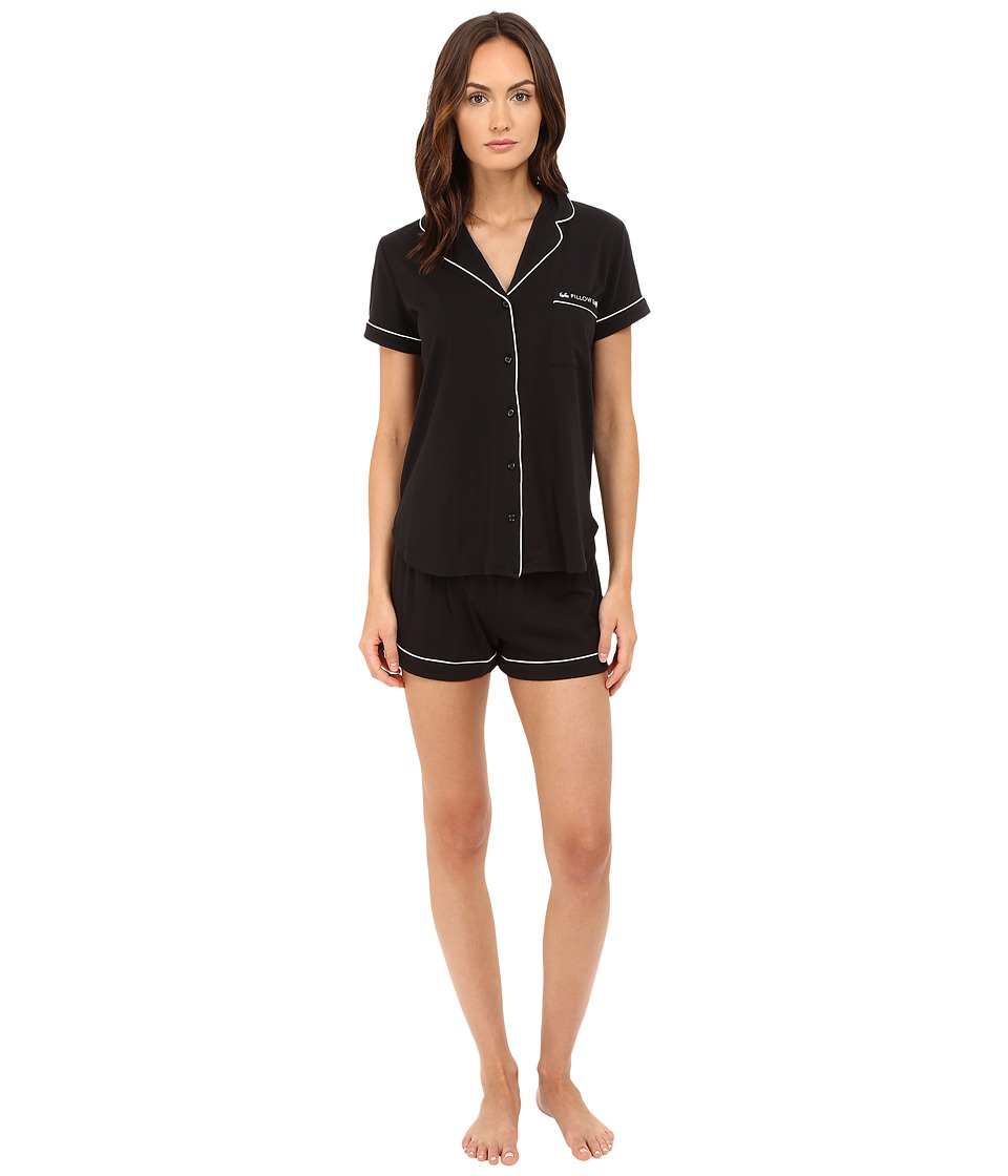 Kate Spade New York - Pillow Talk Jersey Short PJ (Black) Women's Pajama Sets