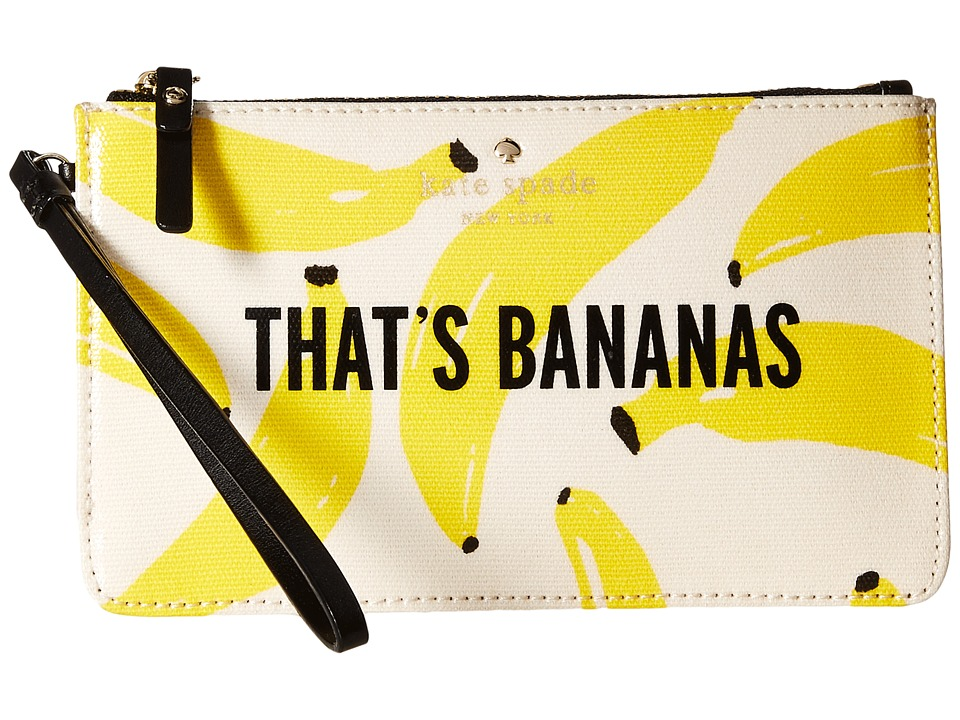 Kate Spade New York - Flights of Fancy Thats Bananas Slim Bee (Yellow Multi) Wallet