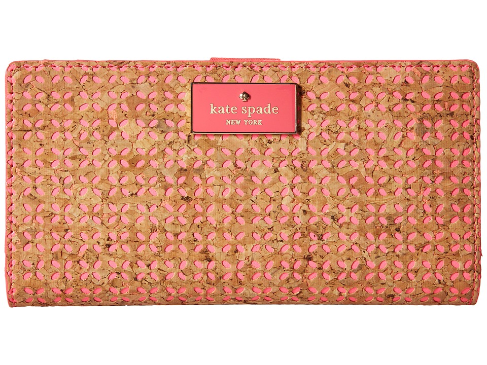 Kate Spade New York - Arbor Way Stacy (Natural/Flo Geranium) Wallet