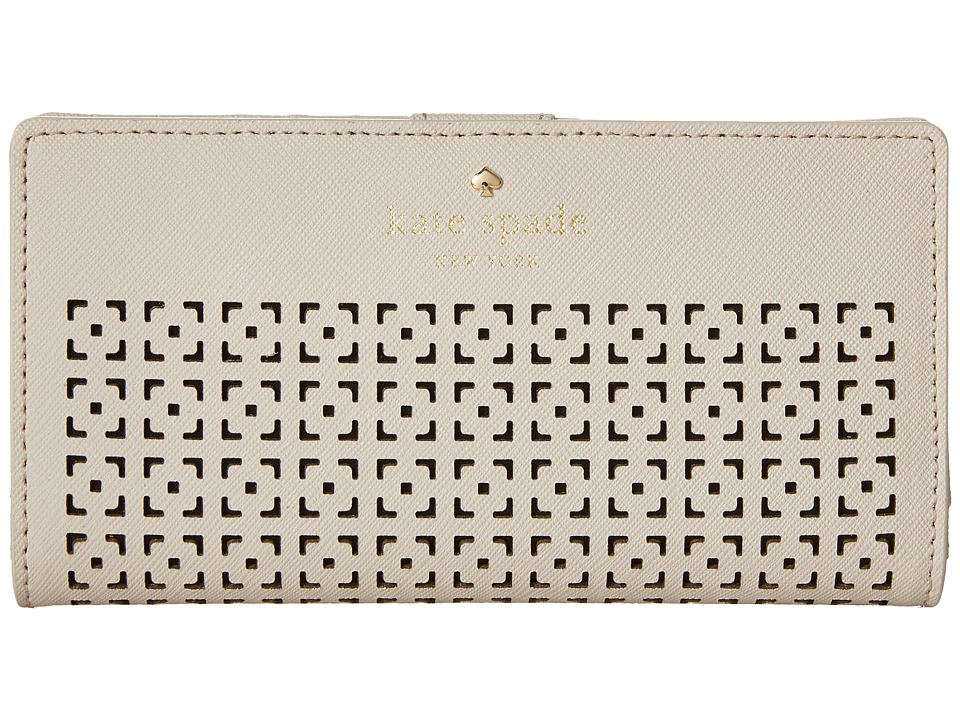 Kate Spade New York - Cedar Street Perf Stacy (Crisp Linen) Wallet