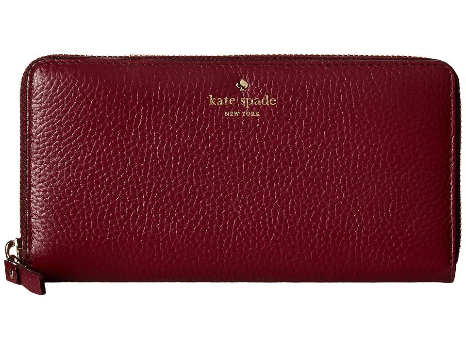 Kate Spade New York - Cobble Hill Lacey (Merlot) Wallet Handbags