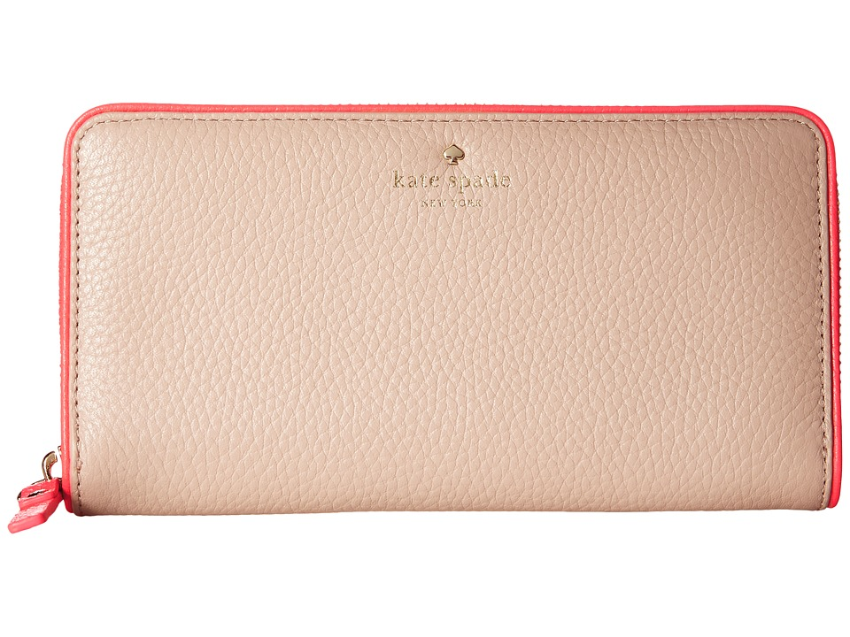 Kate Spade New York - Cobble Hill Lacey (Pressed Powder/Flo Geranium) Wallet Handbags