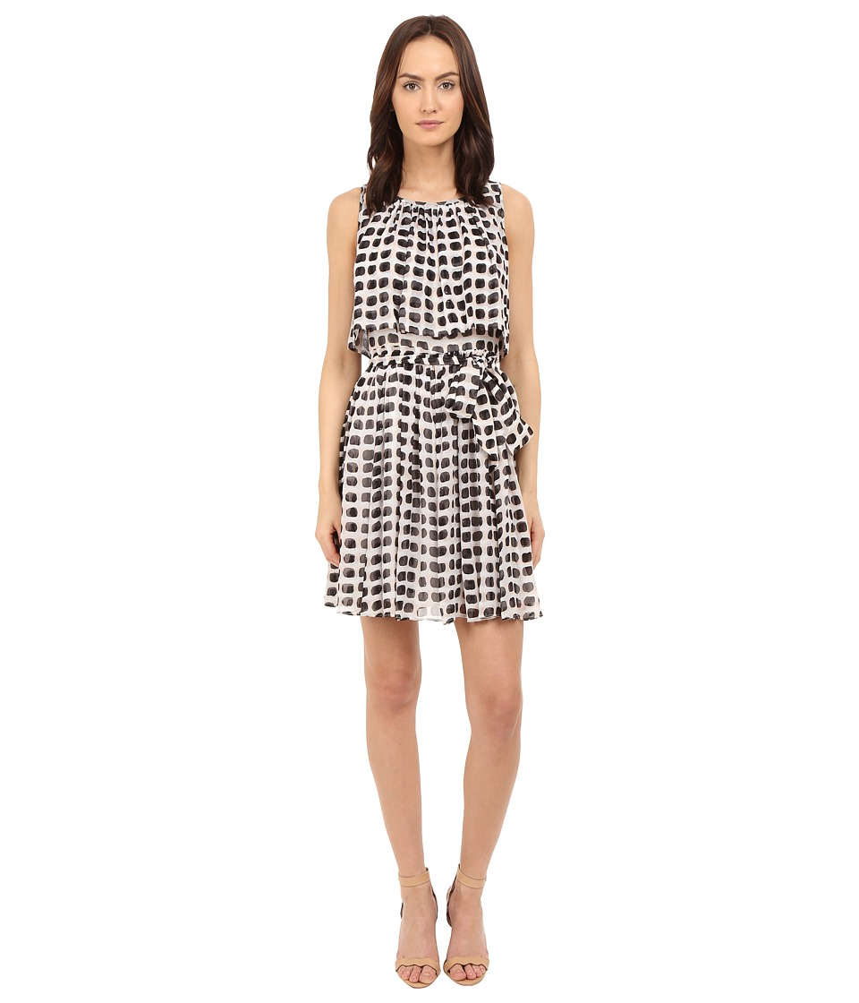Kate Spade New York - Island Stamp Chiffon Dress (Black Multi) Women's Dress