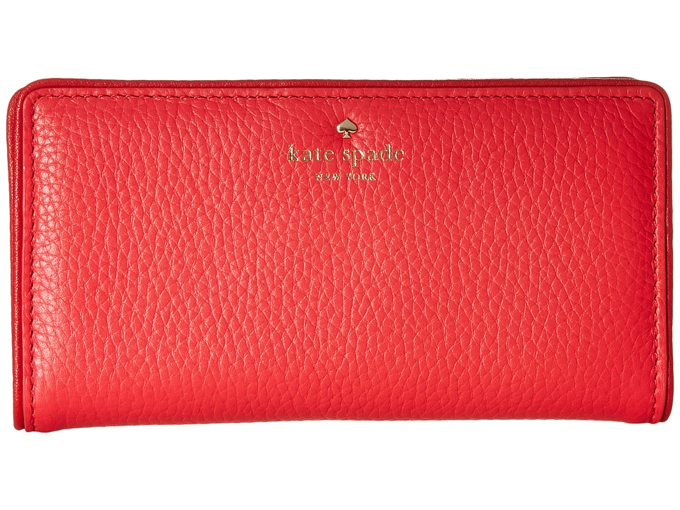 Kate Spade New York - Cobble Hill Stacy (Crab Red/Parrot Feather) Wallet Handbags