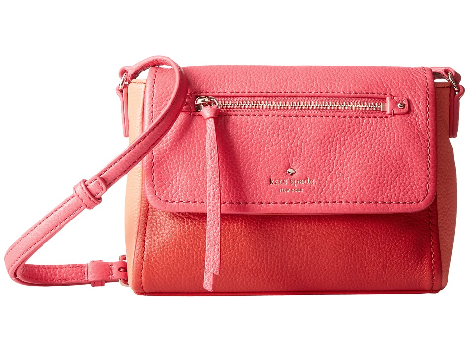 Kate Spade New York - Cobble Hill Mini Toddy (Crab Red/Coral Sunset/Parrot Feather) Cross Body Handbags