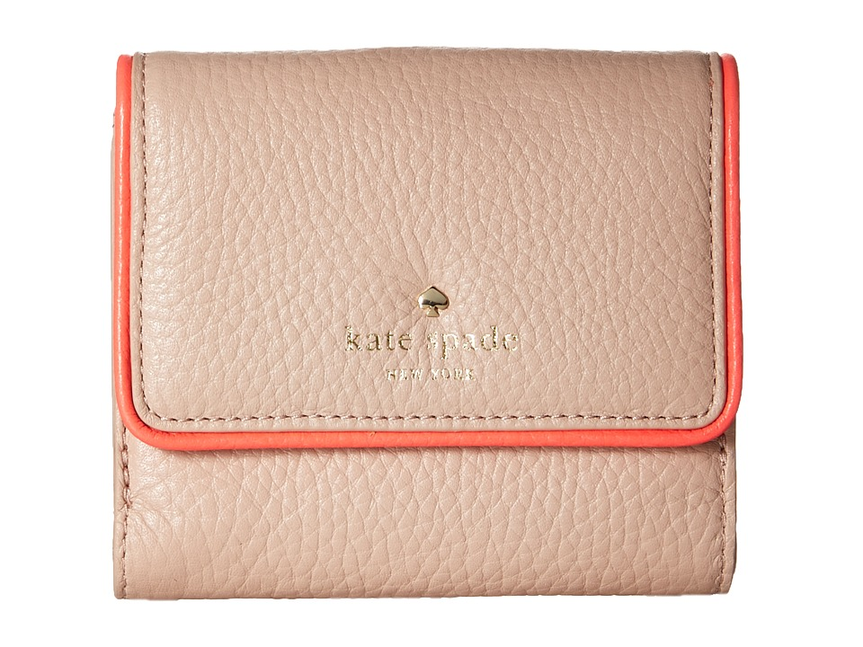 Kate Spade New York - Cobble Hill Tavy (Pressed Powder/Flo Geranium) Wallet
