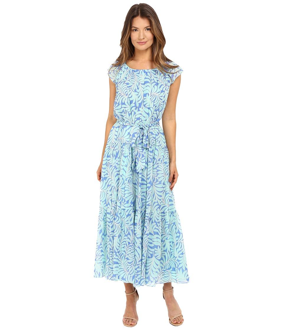 Kate Spade New York - Sea Ferns Chiffon Patio Dress (Adventure Blue) Women's Dress