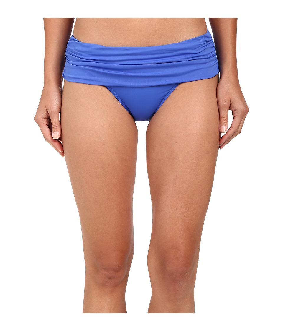 LAUREN Ralph Lauren - Beach Club Solids Wide Shirred Banded Hipster (Periwinkle) Women's Swimwear