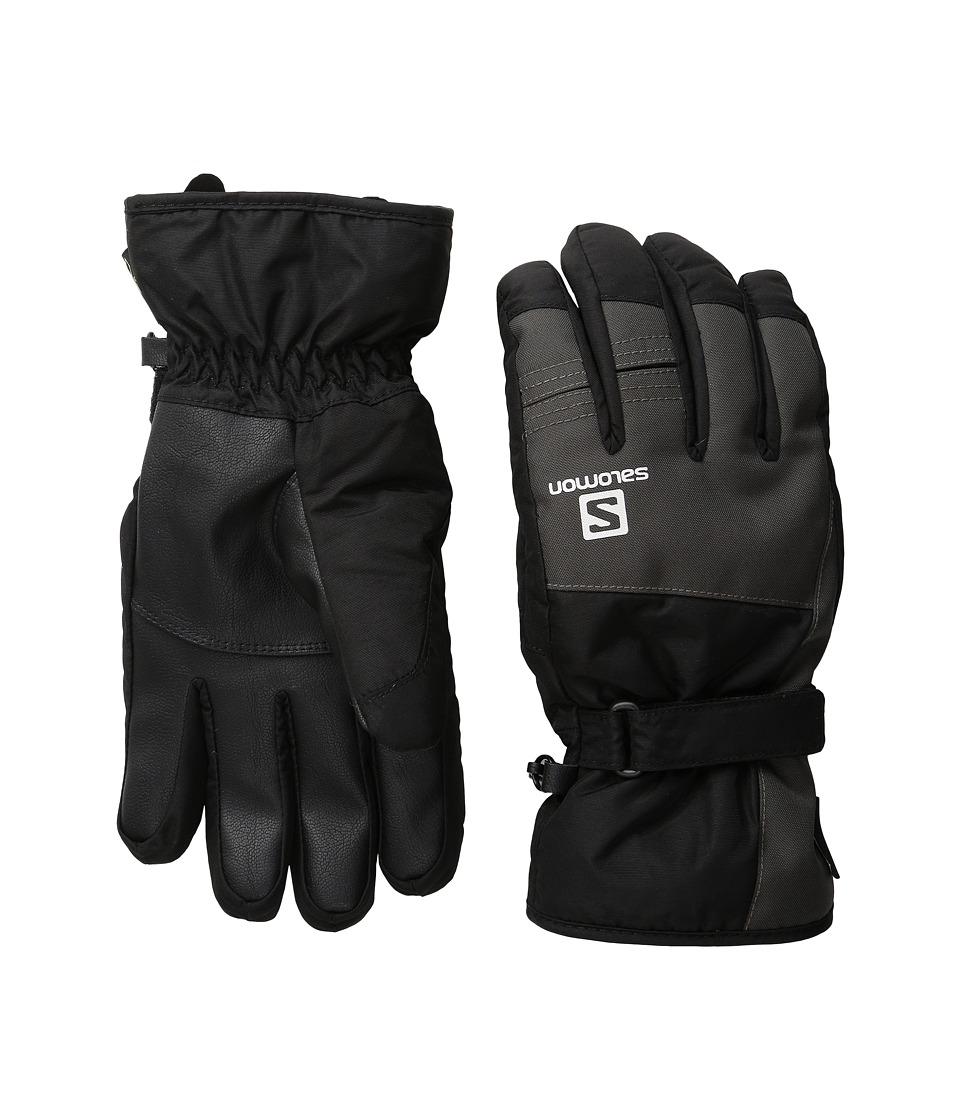 Salomon Force GORE-TEX(r) M (Black/Galet Grey) Gore-Tex Gloves