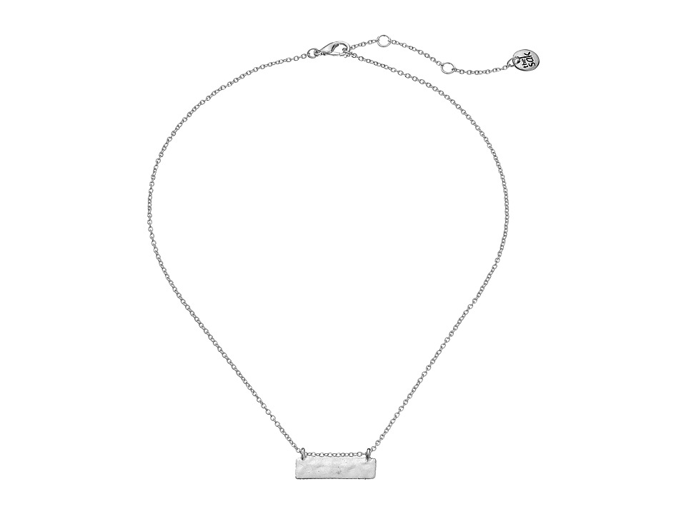 The Sak - Metal Bar Necklace 16 (Silver) Necklace