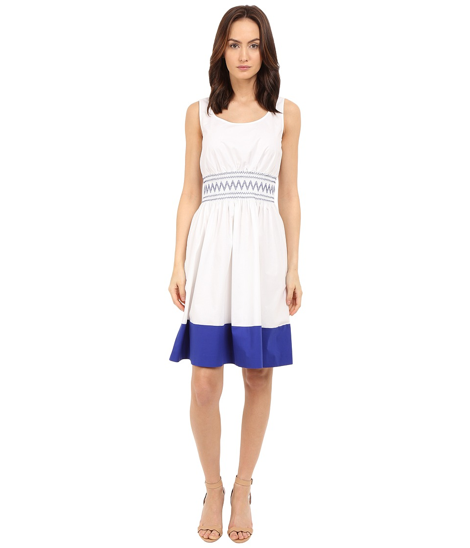 Kate Spade New York - Smocked Poplin Dress (Fresh White) Women's Dress