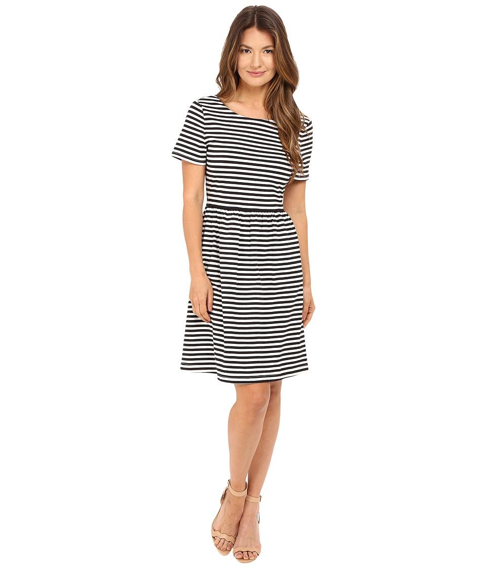 Kate Spade New York Stripe Twist Back Dress (Black) Women