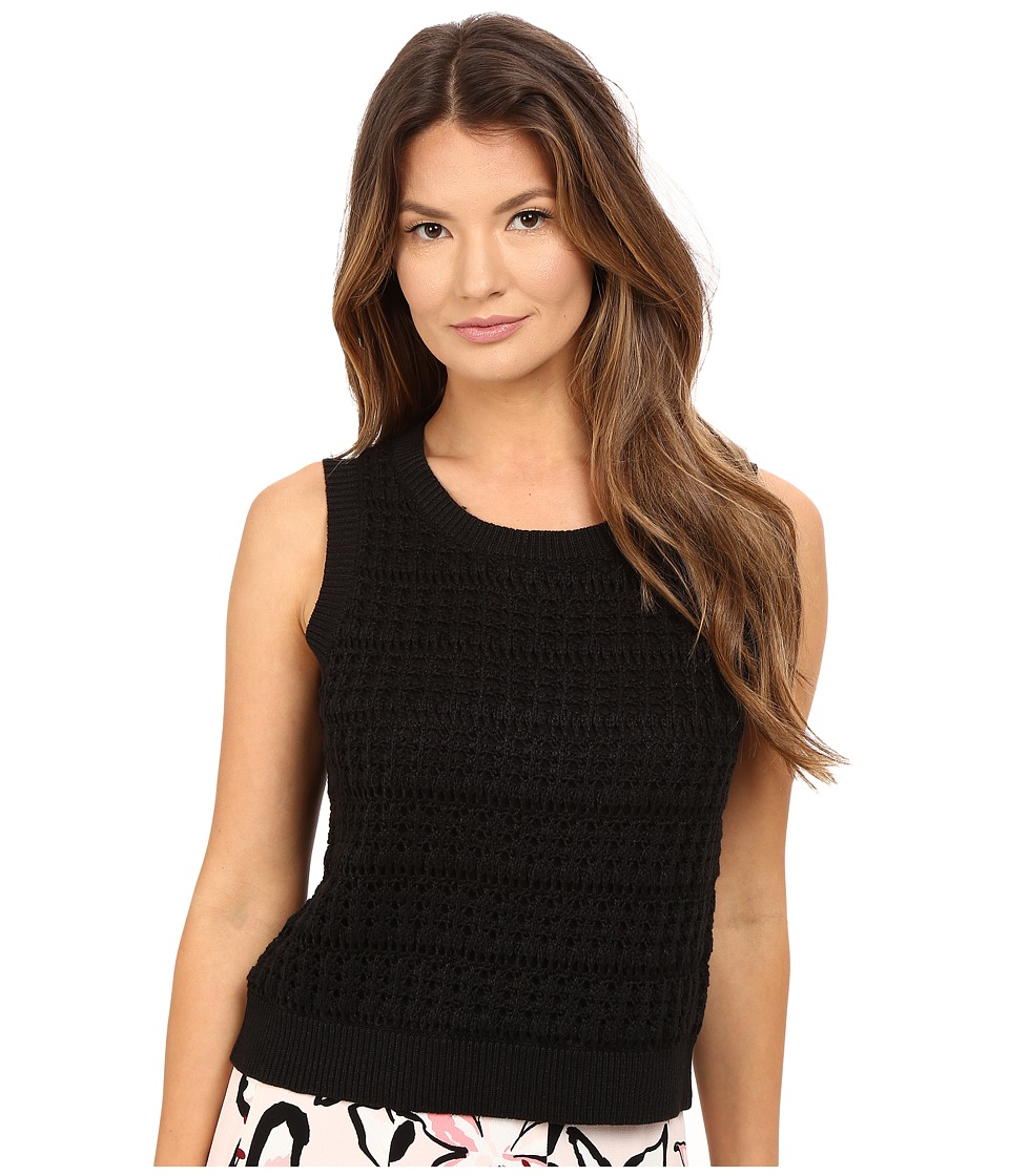 Kate Spade New York - Open Stitch Sleeveless Sweater (Black) Women's Sweater