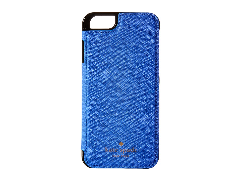 Kate Spade New York - Cedar Street Leather Folio iPhone Pocket (Adventure Blue) Cell Phone Case