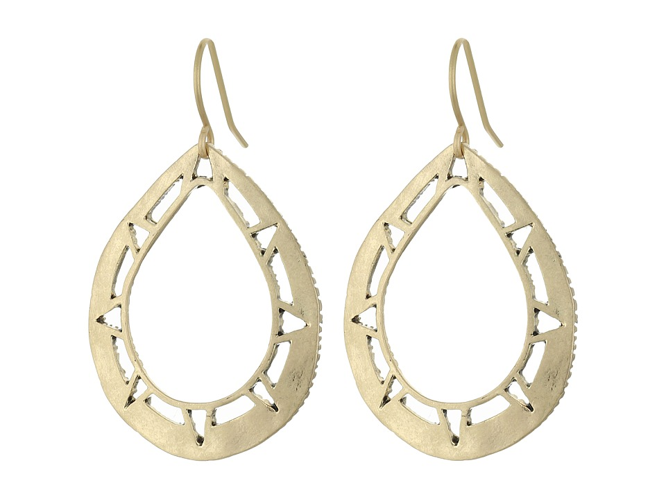 The Sak - Pierced Metal Hoop Drop Earrings (Gold) Earring