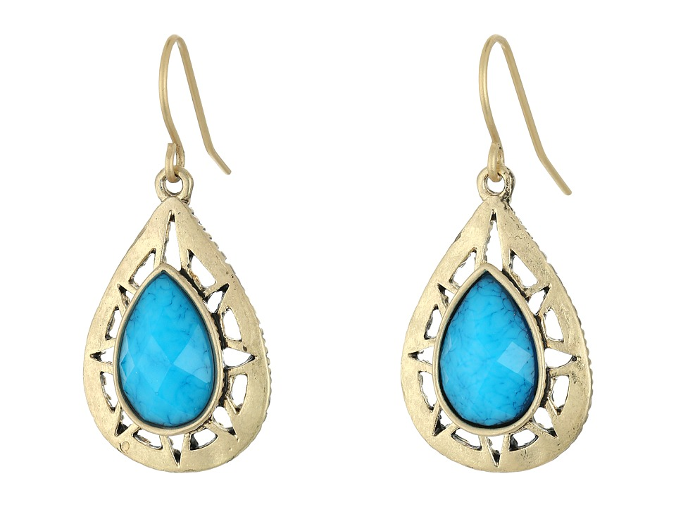 The Sak - Stone Pierced Drop Earrings (Blue) Earring