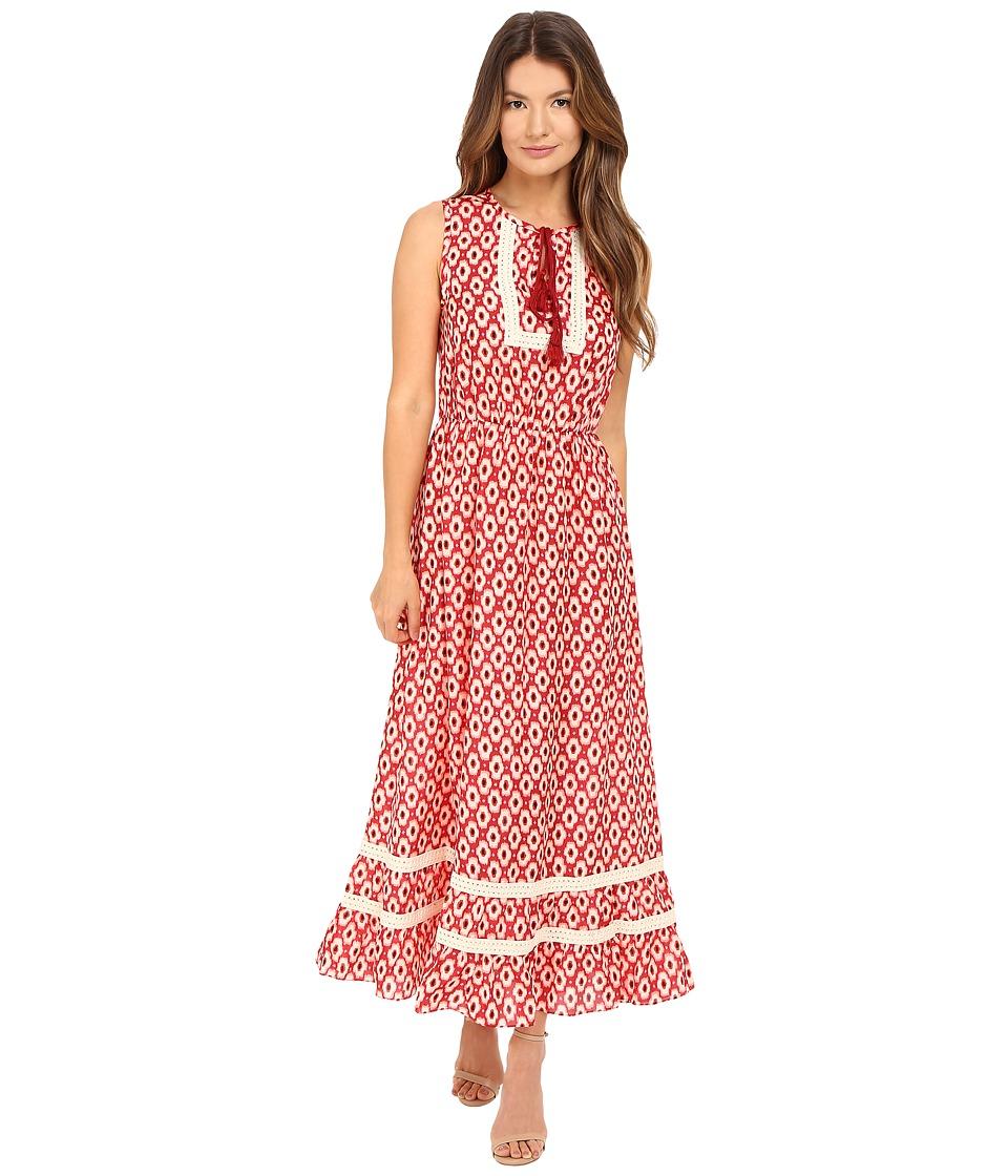 Kate Spade New York - Posy Ikat Patio Dress (Red Chestnut Multi) Women's Dress