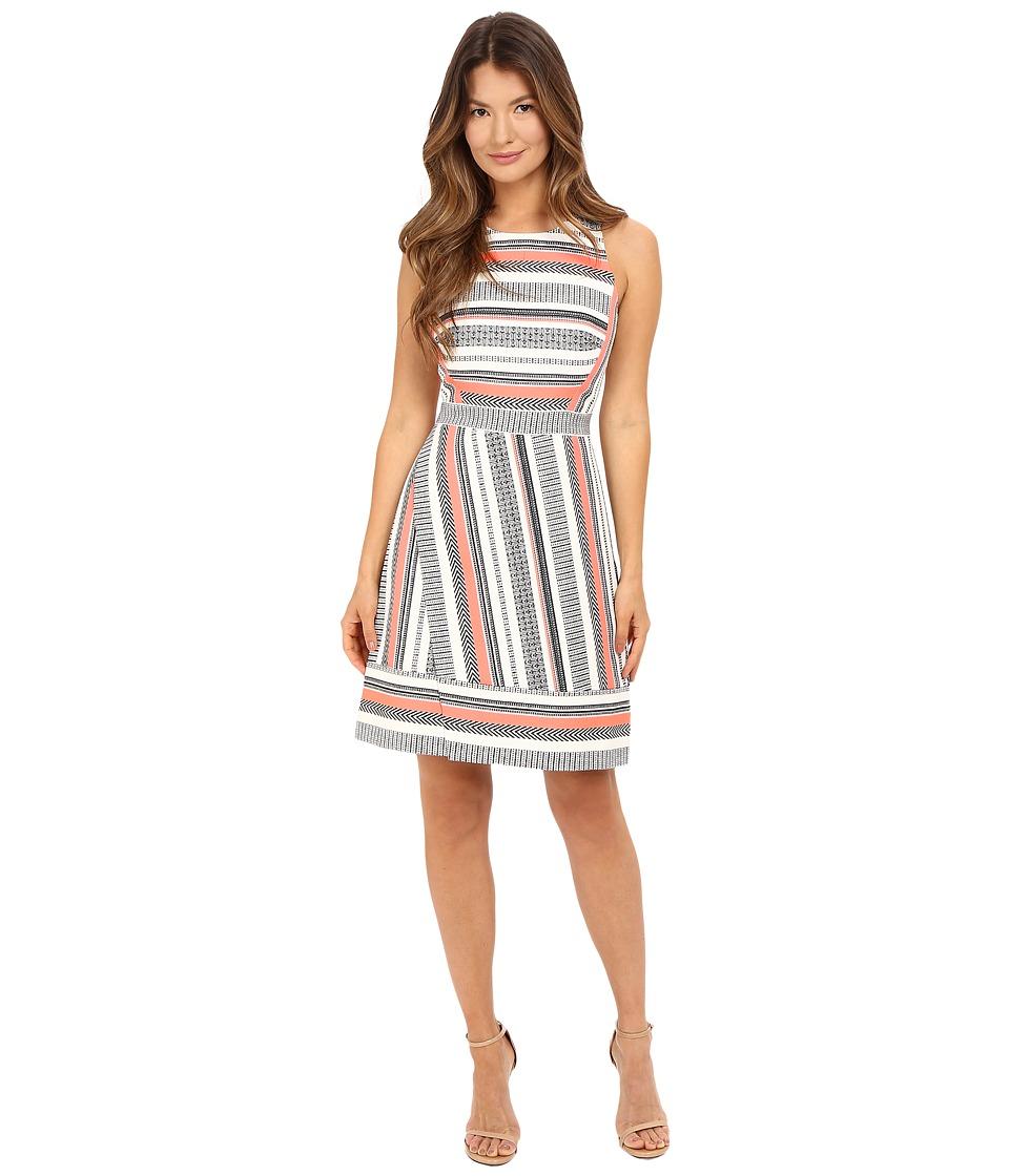 Kate Spade New York - Ribbon Jacquard Dress (Surprise Coral Multi) Women's Dress