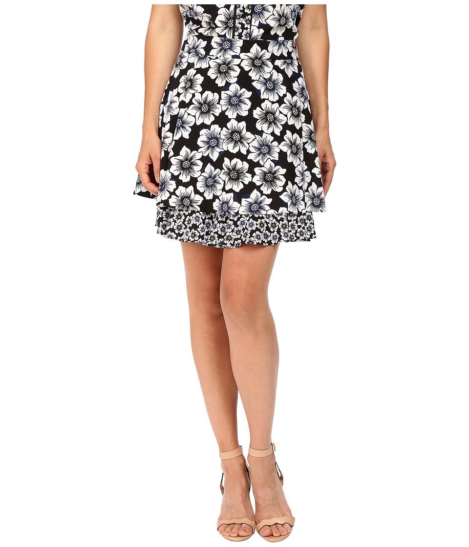 Kate Spade New York - Hollyhock Double Layer Skirt (Black) Women's Skirt