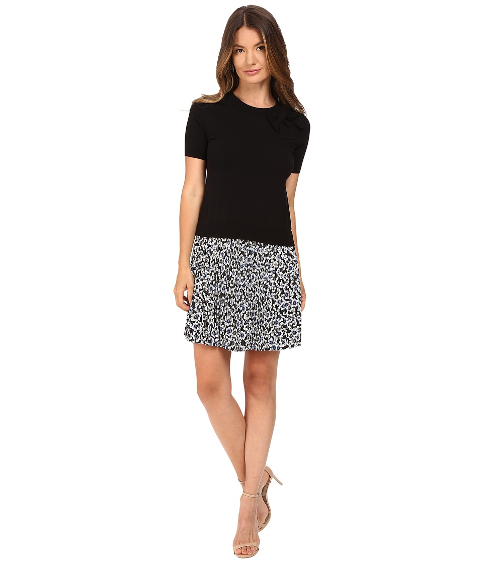 Kate Spade New York - Hollyhock Pleated Skirt Dress (Black) Women's Dress