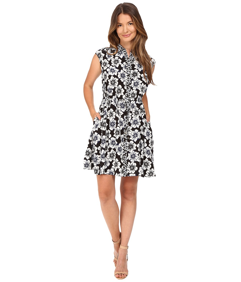 Kate Spade New York - Hollyhock Shirtdress (Black) Women's Dress