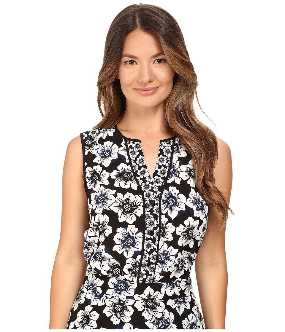Kate Spade New York - Hollyhock Sleeveless Shirt (Black) Women's Sleeveless