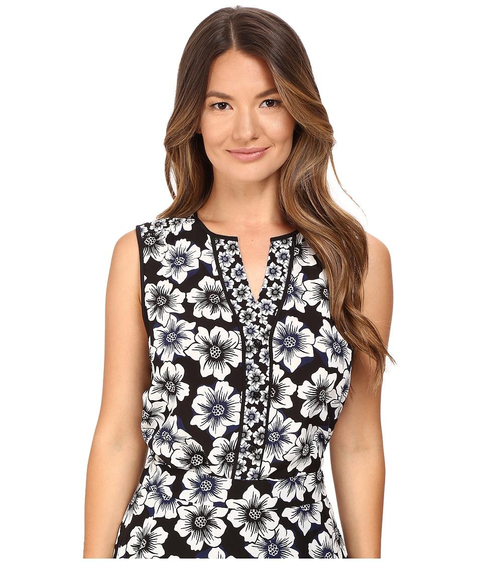 Kate Spade New York - Hollyhock Sleeveless Shirt (Black) Women's Sleeveless