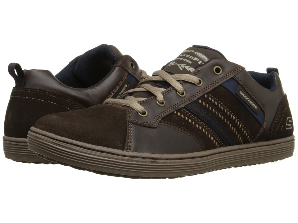 SKECHERS Relaxed Fit Sorino Evoie (Chocolate) Men