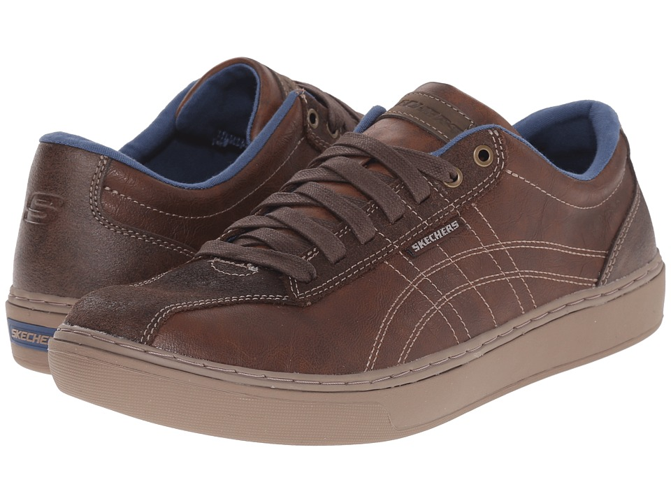 SKECHERS - Relaxed Fit Palen - Eleno (Coffee) Men's Lace up casual Shoes
