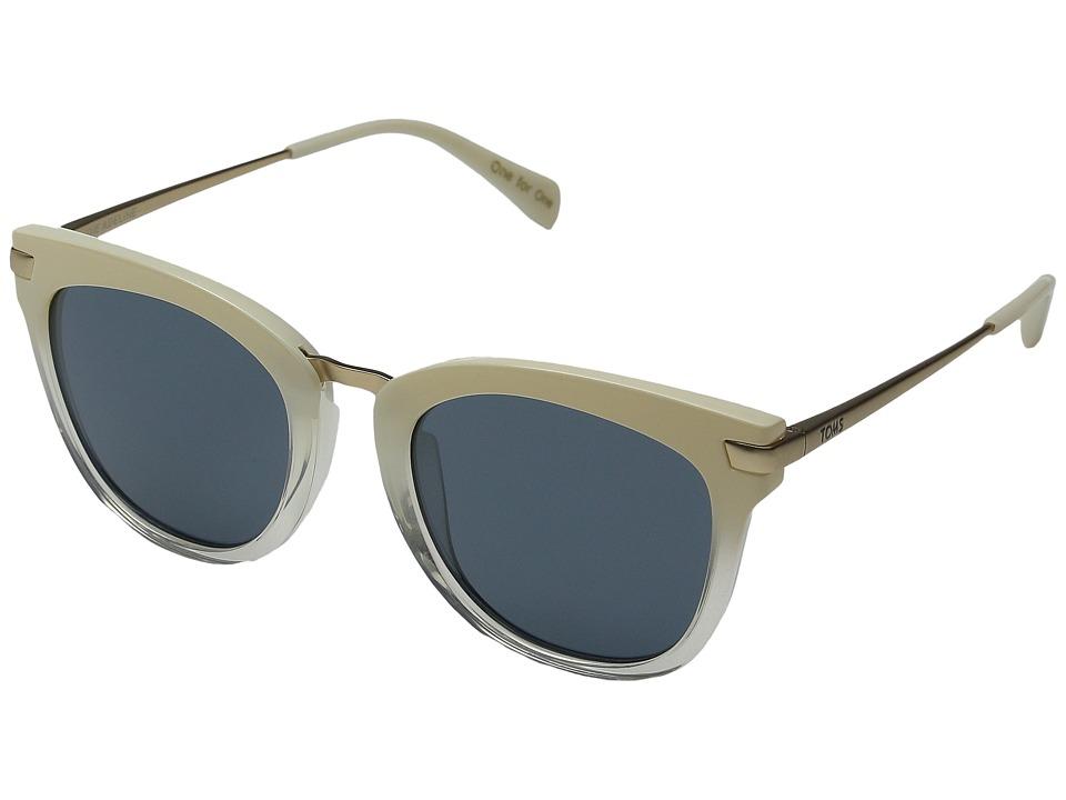 TOMS - Adeline (Pearl Clear Fade) Fashion Sunglasses
