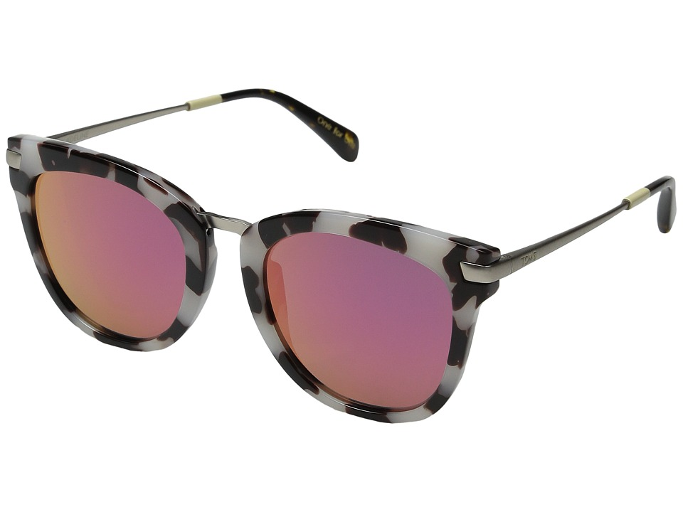TOMS - Adeline (Black/White/Tortoise) Fashion Sunglasses