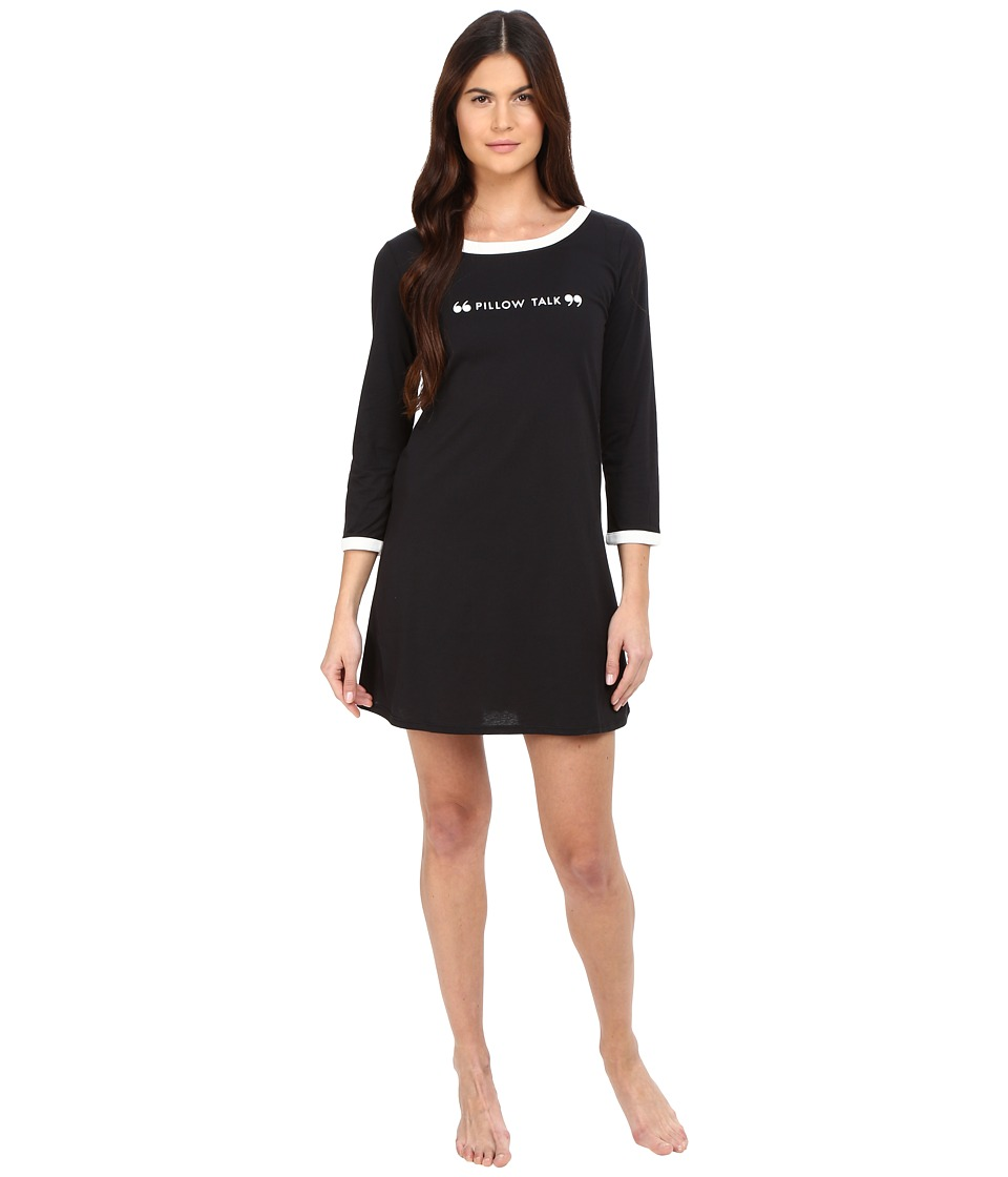 Kate Spade New York - Pillow Talk Sleep Shirt (Black) Women's Pajama