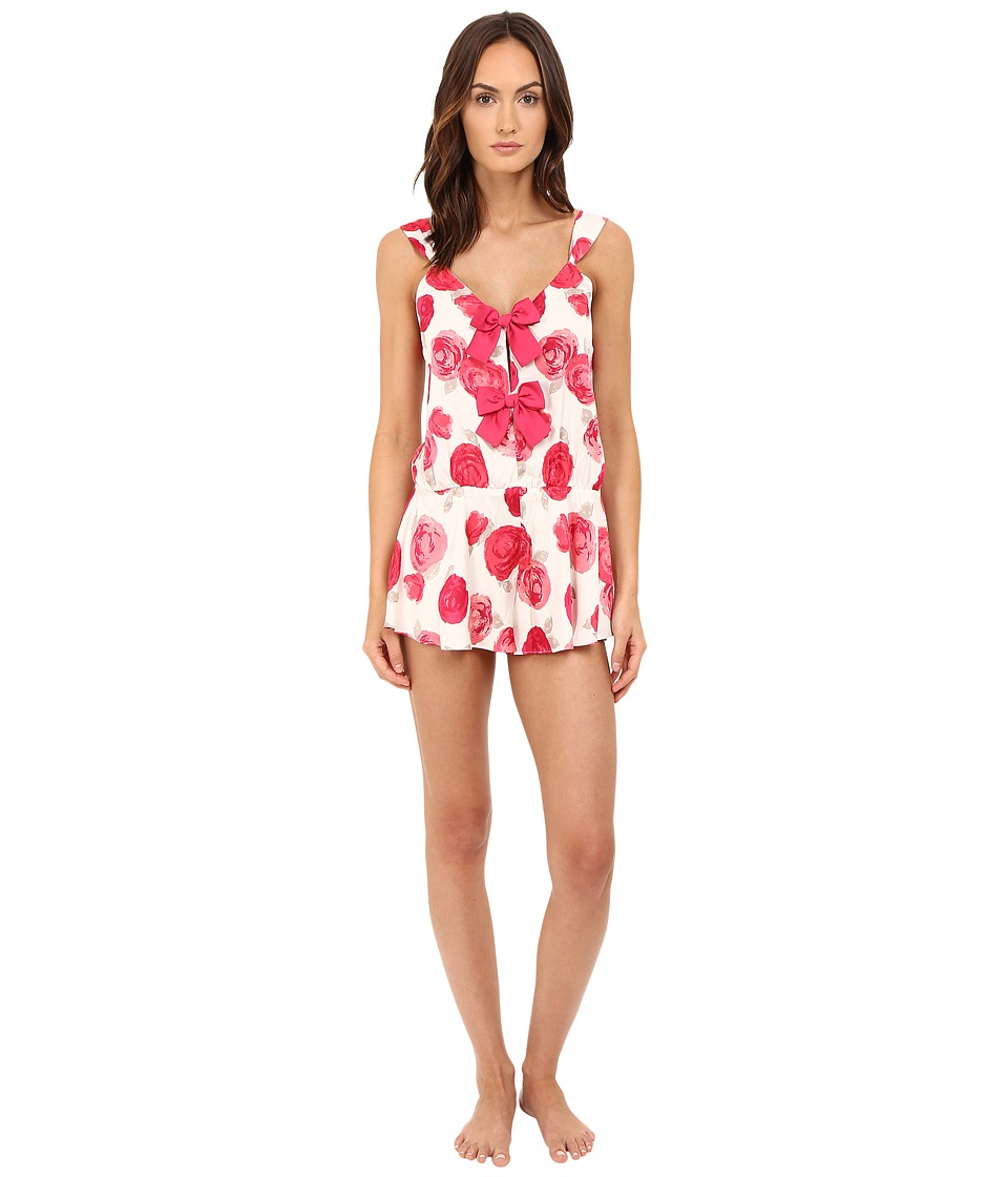 Kate Spade New York - Charmeuse Romper (Bella Rose) Women's Jumpsuit & Rompers One Piece